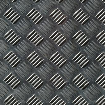 Zoom sur une plaque en acier