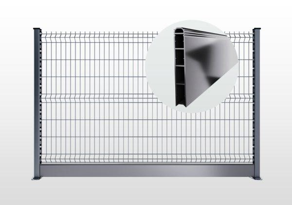 Soubassement PVC Grillage Rigidee