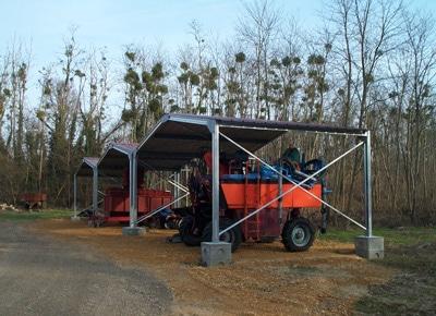 Carport tracteurs