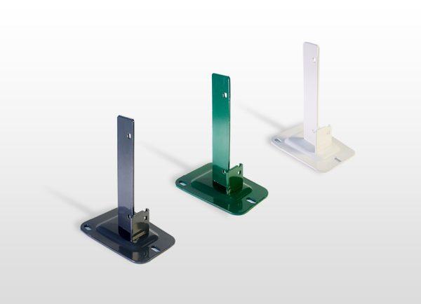 Quaglia Métal Accessoires Grillage Rigide Platine Pour Poteau H